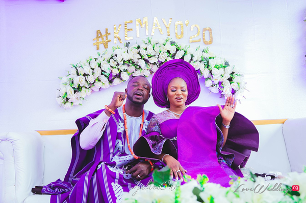 Fadekemi & Oludotun's traditional wedding was all shades of purple | #Keyamo20