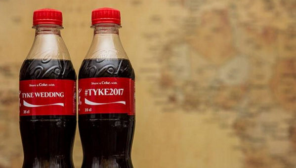 If you're a Coca-Cola lover, you'll love these bottles and cans at your wedding